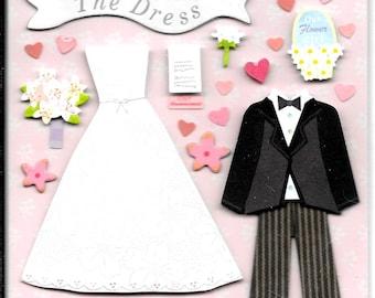 K & Company LLO  -- Wedding Dress --  NEW --  dimensional stickers  (#3004)
