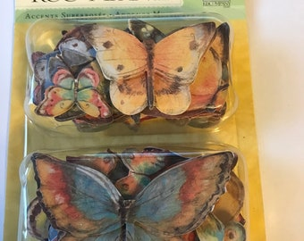 K & C -- SW Nature Butterfly Layered Accents -- NEW -- (#3012)  Butterflies