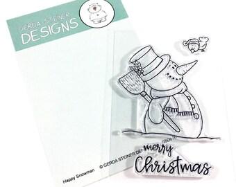 Gerda Steiner Designs --  Happy Snowman  -- NEW -- (#3204)
