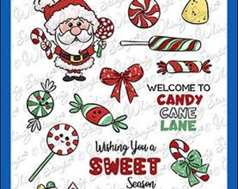 Whimsy Stamps --   Candy Cane Lane   -- NEW  -- (#3608)