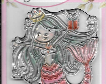 Wild Rose Studio Clear Stamp -- NEW -- Mermaid Birthday -- (#3024)