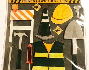 K & Company LLO - Construction Worker - NEW - dimensional stickers (#3000)