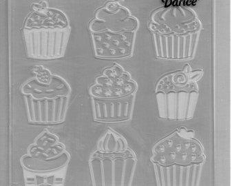 Darice Embossing Folder  --  New  -- Cupcakes  --  (#3095)