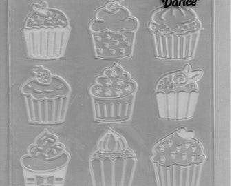Darice Embossing Folder  --  New  -- Cupcakes  --  (#3893)