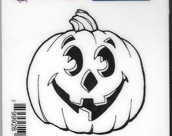 Deep Red Cling Stamps -- Jack O Lantern -- NEW -- (#2809)