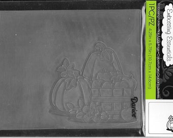 Darice Embossing Folder -- New -- Fall Pumpkins with Basket -- (#3050)