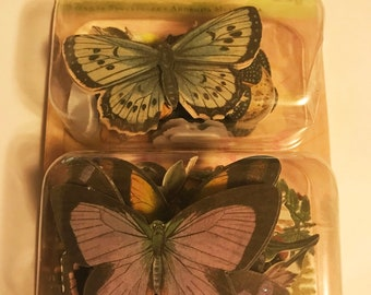 K & C -- BW Floral/Fauna Butterfly Layered Accents -- NEW -- (#3013)