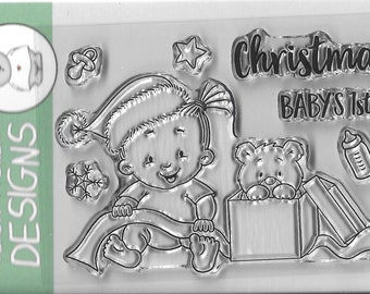 Gerda Steiner Designs --  Baby Girl Christmas  -- NEW -- (#3202)