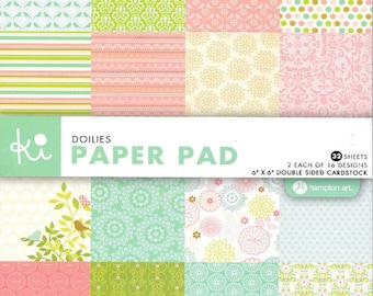 6 x 6 Paper Pad ~~ Doilies ~~ Double sided paper ~~ NEW (#2083)