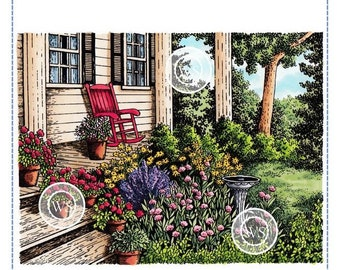 Whimsy Stamps -- Back Porch -- NEW -- (#2720)