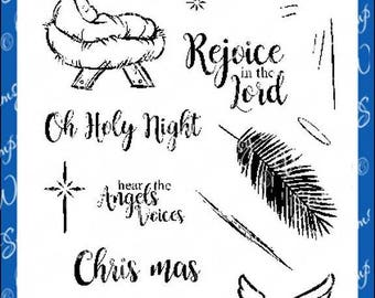 Whimsy Stamps -- Oh Holy Night -- NEW -- (#2639)