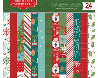 6 x 6 Paper Pad ~ North Pole Trading Co.  ~ Double sided NEW (#4307)