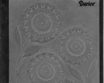 Darice Embossing Folder  --  New  -- Floral Trio --  (#1724)