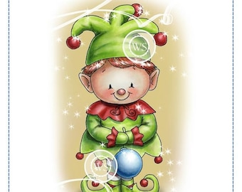 Whimsy Stamps -- Christmas Elf -- NEW -- (#2549)