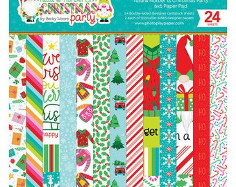 6 x 6 Paper Pad ~ Tulla & Norbert's Christmas Party  ~ Double sided NEW (#4308)