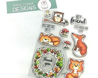 Gerda Steiner Designs --    Foxes   -- NEW  -- (#4302)