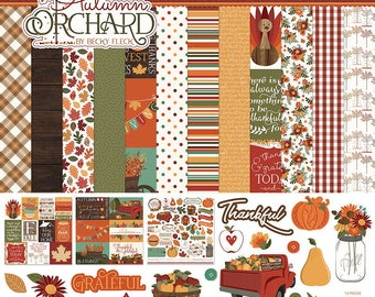 12 x 12 Collection Pack  ~~ Autumn Orchard  ~~   Paperplay Photo Brand  ~~  NEW  (#2502)