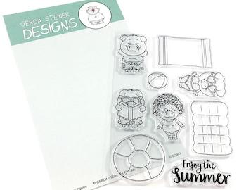 Gerda Steiner Designs --   Pool Piggies   -- NEW  -- (#4297)