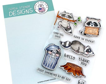 Gerda Steiner Designs --   Sneaky Racoons   -- NEW  -- (#4299)