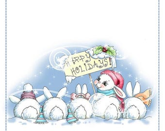 Whimsy Stamps -- Christmas Bunny Row -- NEW -- (#2606)