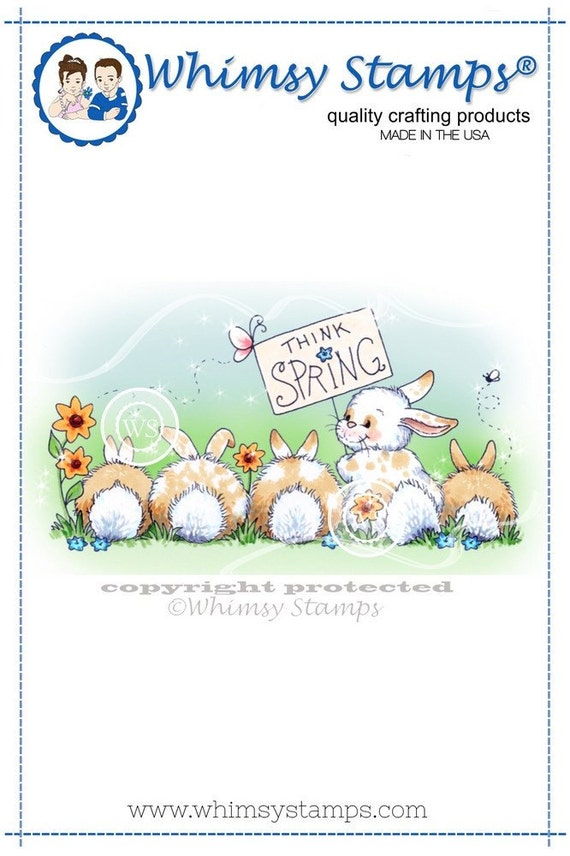Whimsy Stamps --  Think Spring Bunnies  -- NEW  -- (#1984)