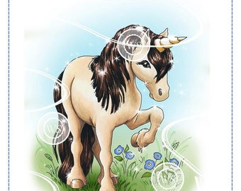 Whimsy Stamps --  Unicorn Beauty -- NEW -- (#2749)
