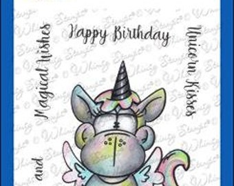 Whimsy Stamps --    Unicorn Kisses   -- NEW  -- (#4311)