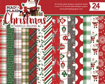 6 x 6 Paper Pad ~ Mad for Plaid Christmas ~ Double sided  NEW  (#2506)