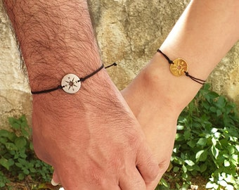 One for you one for me Compass set bracelets, love, couple gift, couple goals, compass, lost without you