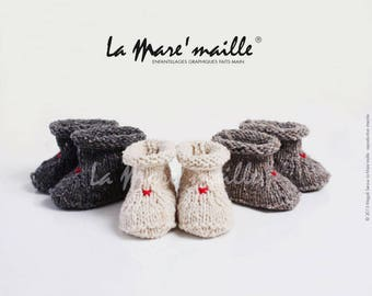 Baby wool tweed shetland off-white, black or taupe for rustic chic de La Mare' mesh