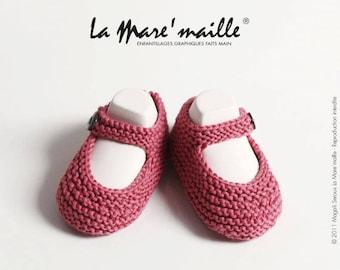 Baby cotton knit organic pink La Mare' mesh