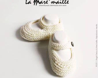 Baby cotton knit organic Ecru La Mare' mesh