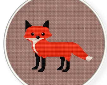 Instant Download,Free shipping,Counted Cross stitch pattern,Cross-Stitch PDF,Red fox ,ZXXC0269