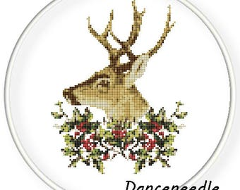 Instant Download,Free shipping,Counted Cross stitch pattern,Cross-Stitch PDF,dear,Merry Christmas,zxxc-014
