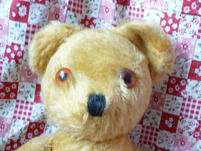 Made in England Teddy Bear Mohair Teddy Bear Vintage Pedigree Teddy Vintage British Collectors Bear British Pedigree Teddy Bear