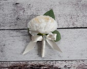 Ranunculus Wedding Boutonniere