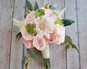 Boho Bouquet, Vintage Bouquet, Garden Bouquet, Wedding Bouquet, Bridal Bouquet, Silk Bridal Bouquet