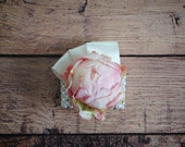Wedding Corsage - Blush Pink Peony Bud Wristlet Corsage