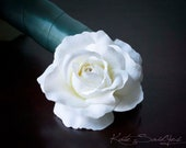 Rose Hair Pin - White Rose Silk Hair Pin