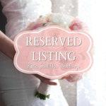 RESERVED Listing for Andrea - Custom Wedding Flowers - Sept. 21