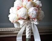 Ivory Peony Bud Bridal Wedding Bouquet