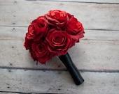 Wedding Bouquet Red Rose Silk Wedding Bouquet
