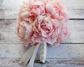 Pink Peony Bouquet - Blush Pink Peony Wedding Bouquet