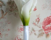 Wedding Bouquet Small Ivory Calla Lily Bridal Bouquet Real Touch