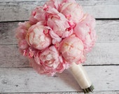 Wedding Bouquet - Pink Peony and Cherry Blossom Bouquet