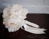 Petite Ivory Peony Wedding Bouquet for Bridesmaids