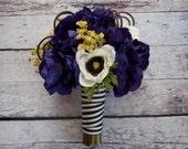 Wedding Bouquet - Purple and White Anemone Bouquet