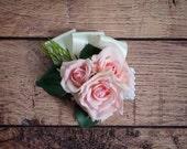 Pink Rose Wedding Corsage
