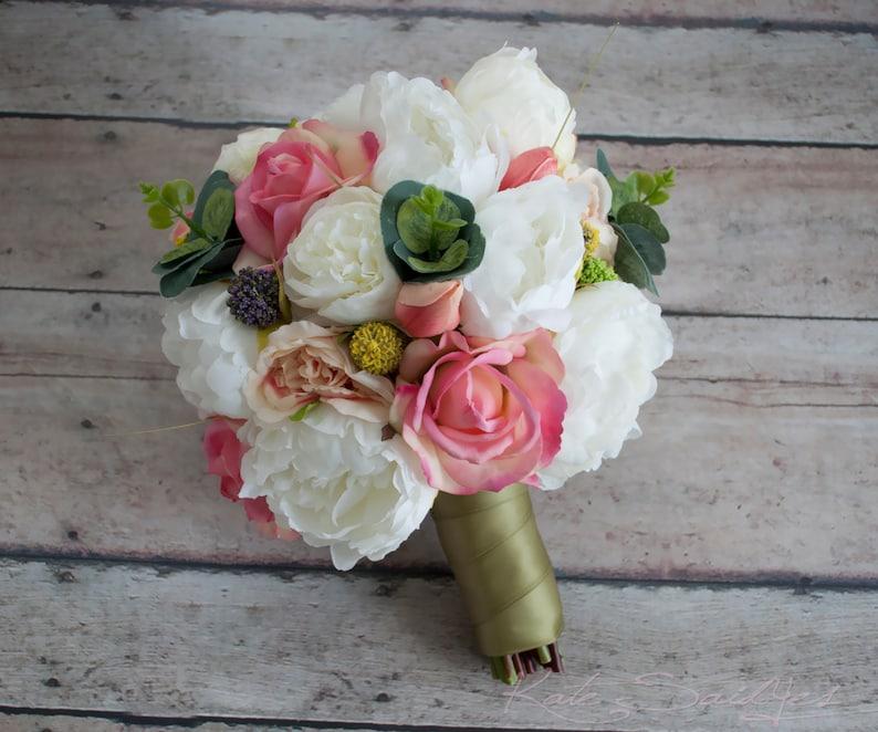 Peony Ranunculus Rose Garden Wedding Bouquet Peony Bouquet