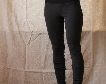 a55495ec7a5da2 Organic High Waisted Leggings- Stretchy Hemp and Organic Cotton